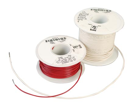 Hook Up Wire Irradiated PVC Insulation preffered wire for soldering applications abrasion and cut resistant, used in military harnessing, medical electronics and power lead supply.