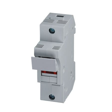 DIN Rail Fuse Holders, 1, 2, & 3-Pole, With Blown Fuse Indication
