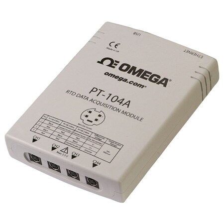4-Channel RTD Input Data Acquisition Module with USB or Ethernet Interface