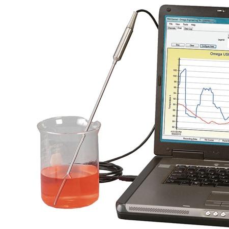 Sonde Thermocouple avec Interface  USB, logiciel d'enregistrement inclus{USB}{WINXP}{VISTA}