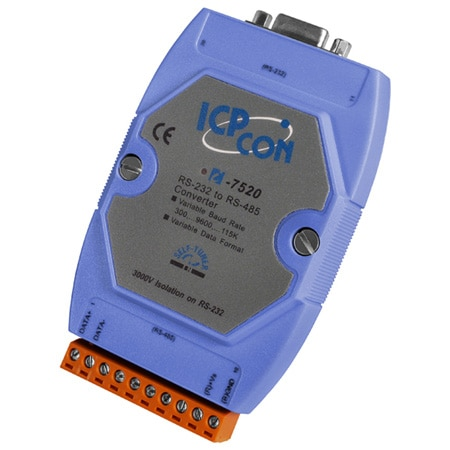 RS-232 to RS-485 Converter, 3kV Isolation
