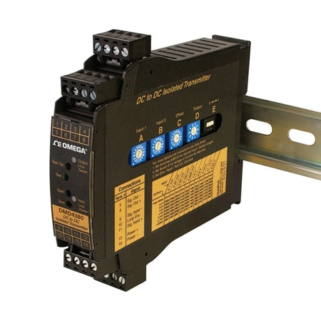 DIN Rail Conditioners Convert mA or V Inputs to mA or Voltage
