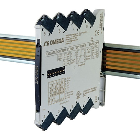 Isolated DIN Rail Signal Conditioner/Splitter for Process Signals