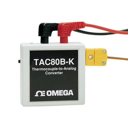 Thermocouple to Analog Converter, Battery or AC Power, Models TAC80B-J, TAC80B-K, TAC80B-K