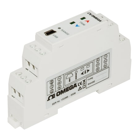 DIN Rail Strain Gage/Load Cell Transmitter w/ Bipolar mA/V Output
