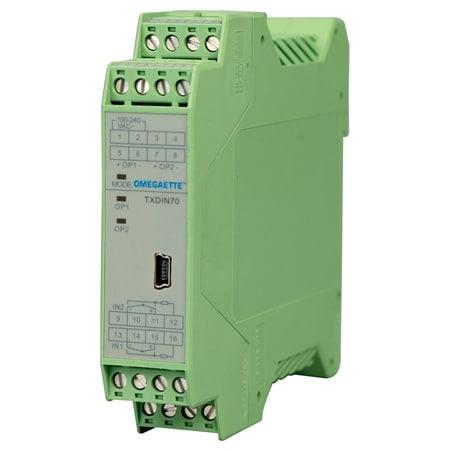 Dual DIN Rail Temperature Transmitter w/ Programmable Inputs