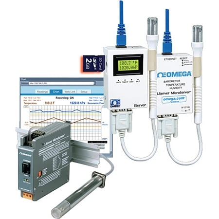 iServer MicroServer™ Barometric Pressure, Temperature, and Humidity Transmitters