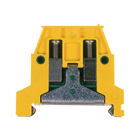 DIN Rail Mounting Ground Terminal Blocks, #22 to #2/0AWG