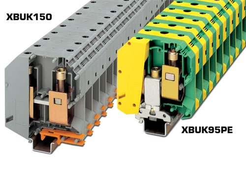 High Current Terminal Blocks, Width 25mm (0.98in), up to 232A