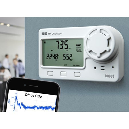 HOBO MX Bluetooth CO2, Temp and RH Data Logger with Display