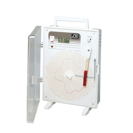 Circular Temperature Chart Recorder with Built-In Bi-Metal Sensor