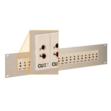 19 inch Universal Jack Panels Accepts Standard and Miniature Connectors