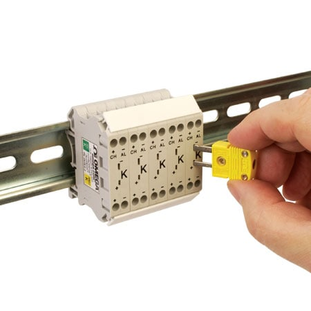 Thermocouple DIN Rail Terminal Blocks, Narrow 10.7 mm Width