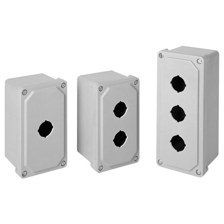 NEMA 4X (IP66) Non-Metallic Fiberglass Pushbutton Enclosures
