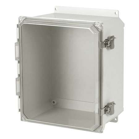 Fiberglass Enclosure Solid/Clear Cover, NEMA3R/4X Indoor/Outdoor