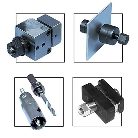 Panel Punches and Hole Saws for Thermocouple Connectors, DIN Size Controllers and Panel Meters