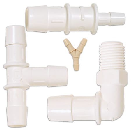 "Plastic Fittings for Tubing and Hose (1/16"" ID - 1"" ID)"