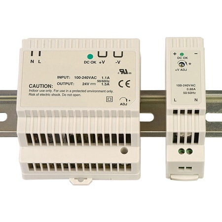 Low Profile DIN Rail Power Supplies for industrial devices