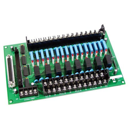 24-Channel Power Relay Output Board - Panel Mount