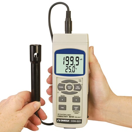 Conductivity, TDS and Salt Meter with Real Time SD Card Data Logger