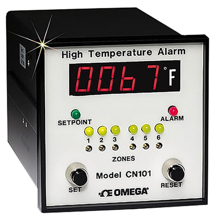 DISCONTINUED - 1/4 DIN Temperature Six Channel Monitor with One Alarm