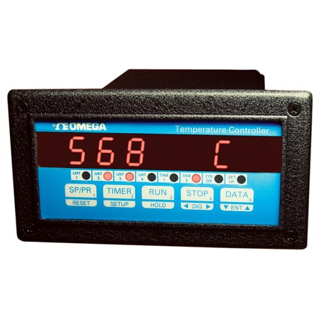 1/8 DIN On-Off Temperature or Process Controllers with 5 Ramp and Soak Programs plus 2 Timers with Optional Outputs and Communications