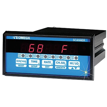 1/8 DIN 4-Zone & 7-Zone Temperature/Process Controllers with  Ramp/Soak Capability