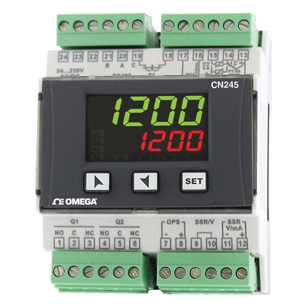 DIN Rail Mountable Universal Input Ramp and Soak PID Controller