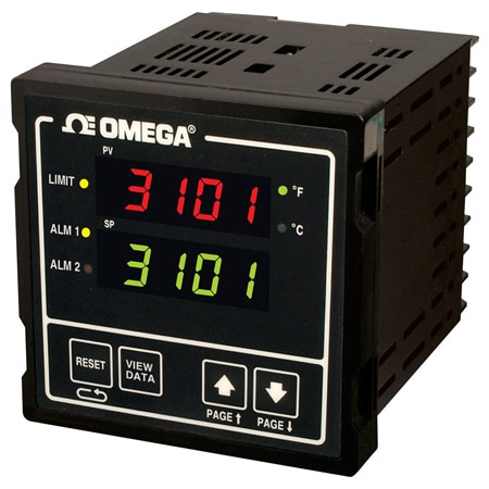 1/4 DIN Limit Temperature/Process Controllers with Modular Communications Options