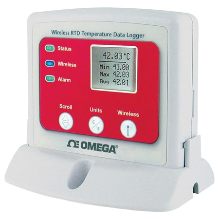 Wireless RTD Temperature Data Logger with Display