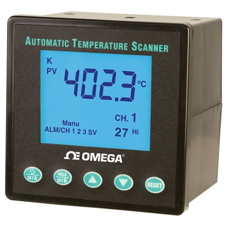 1/4 DIN 10-Channel Automatic Temperature Scanner