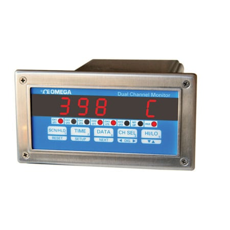Dual-Channel Process Monitor 1/8 DIN Size