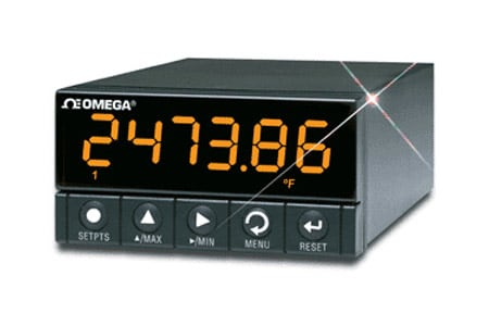 DISCONTINUED - 1/8 DIN Ultra High Performance Meter, Temperature, Thermocouple, RTD, Strain, Process