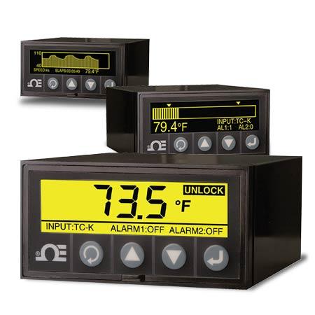 Indicateur de panneau à affichage graphique et enregistreur de données de température et procédé 1/8 DIN