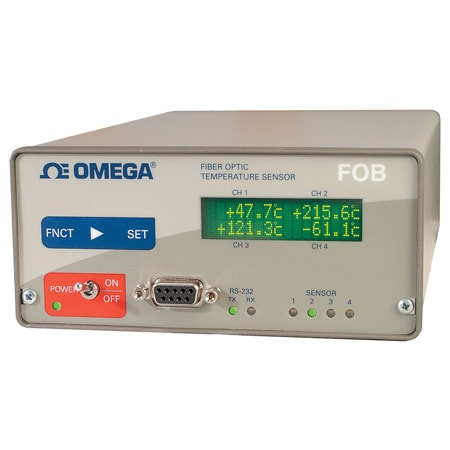Fiber Optic Thermometer, 1/4 Channels for Microwave Applications