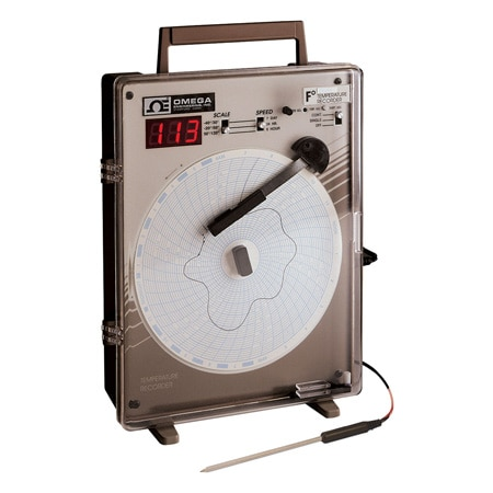 "6 inch, (152mm) Circular Temperature Chart Recorders with ""J"" Thermocouple Input"