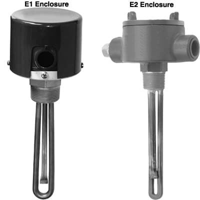 """SS Immersion Heater 1.25"""" NPT Process Water"""