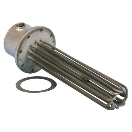 Incoloy Flanged Immersion Heater Solution Water