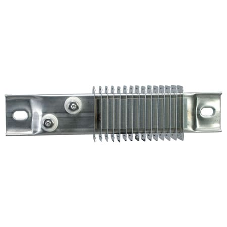 Finned Stainless Steel Strip Heater Diagonal Terminals 800°F