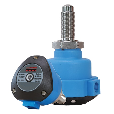 Liquid Flow Transmitter and Switch with Visual Indication