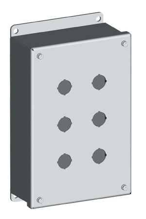 NEMA 12 Steel Pushbutton Enclosures for 22/30.5 mm Push Buttons