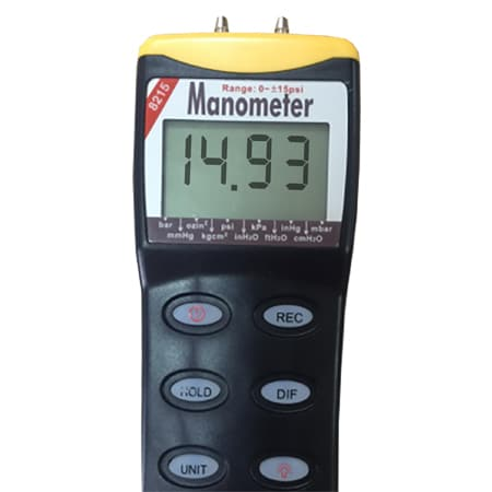 Manometer with RS232 Output