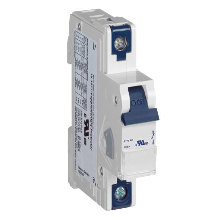 "DIN Rail Mount Circuit Breakers, 17.5 mm (0.69"") Width per Pole"