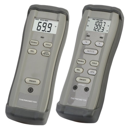 0.1% Accuracy Handheld Thermometers | Single and Dual Channel Models