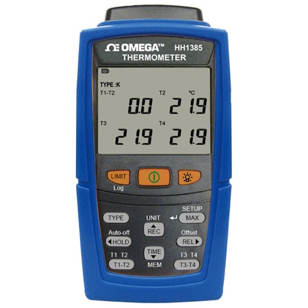 4 Channel 7 Thermocouple Types Datalogger USB output