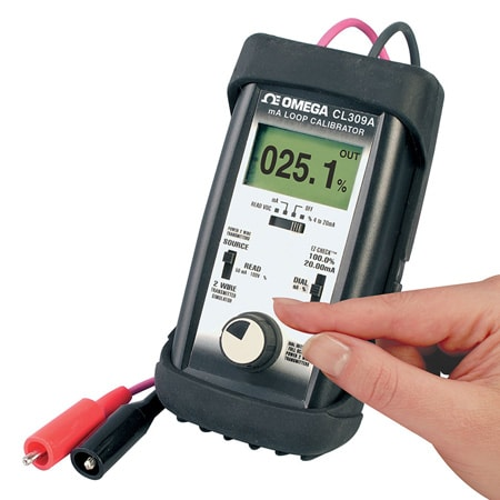 Handheld 4-20mA Current Loop Calibrator with 24V Loop Power