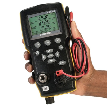 Handheld Pressure Calibrator with  Internal Pressure Pump