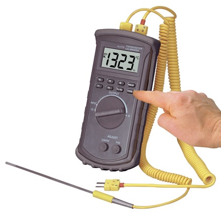 Rugged J,K,T, E Thermocouple Calibrator and Thermometer