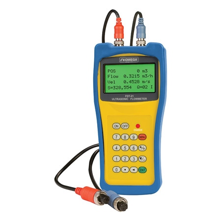 Portable ultrasonic flow meter