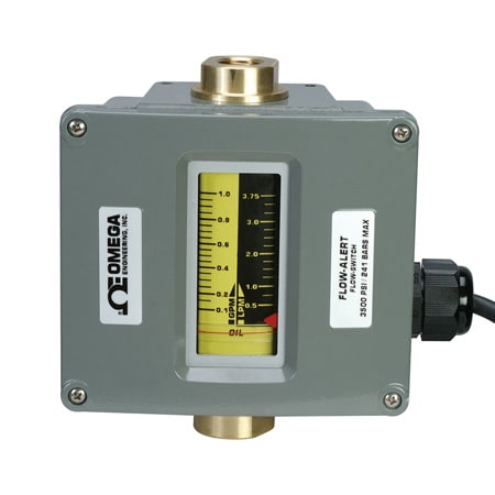 In-line Variable Area Flow Meter With Limit Switches